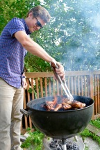 Danny grilling up some chicken