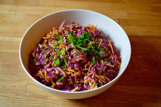 Gotta have some Spicy Sesame Slaw with that chicken