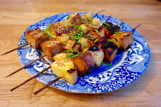 Those Tofu Pineapple Skewers are rad!