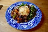 Garlic Roasted Sweet Potatoes... put an egg on it!